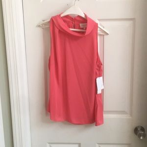 Pink flowy women's size medium tank top